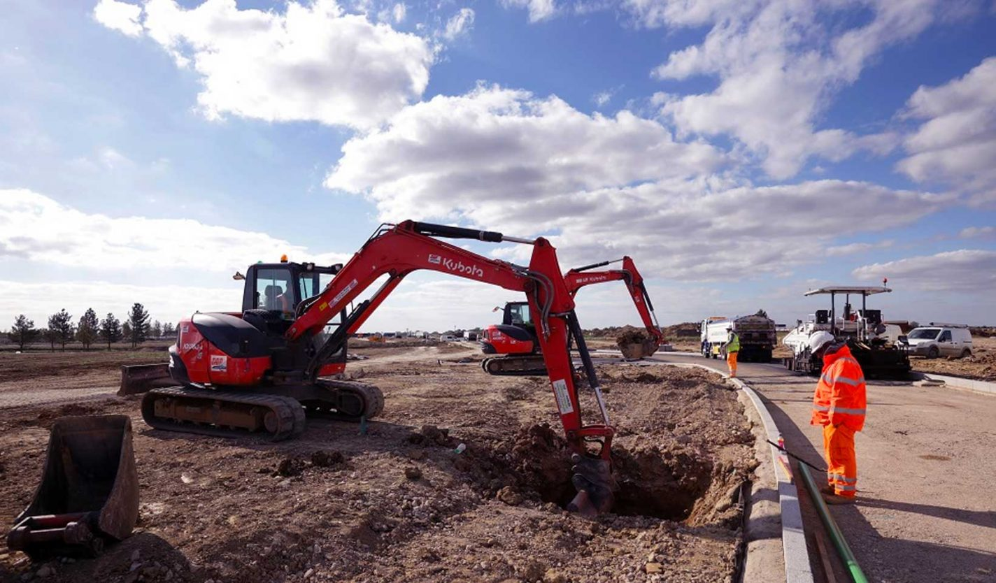 infrastructure work at Wintringham